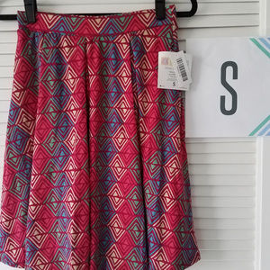 Madison Skirt-Fushia/Tan/Moss Green/Light Blue